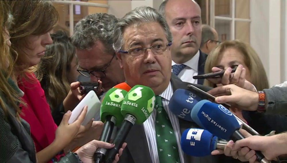 """Zoido recuerda que España es un estado de derecho y que """"nadie nos va a dar lecciones en Europa"""""""