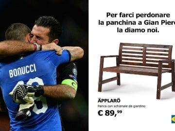 El 'troleo' de Ikea a la selección italiana