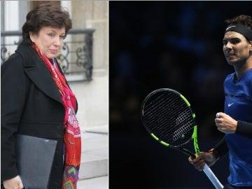 Roselyne Bachelot y Rafa Nadal
