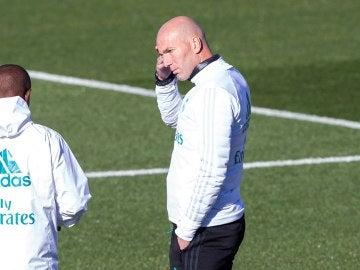 Zinedine Zidane, en Valdebebas