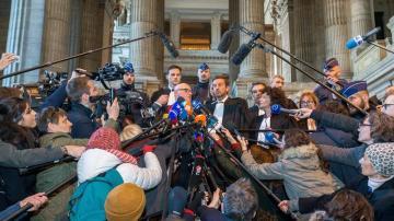 Paul Bekaert, abogado del expresidente de la Generalitat de Cataluña Carles Puigdemont y Christophe Marchand, letrado