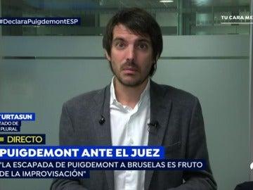 """Urtasun, sobre Puigdemont y los exconsellers: """"Tenemos ganas de ganarles y de pedirles responsabilidades en las urnas porque estamos muy enfadados con ellos"""""""