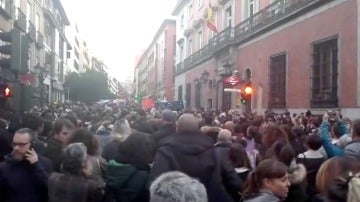 Concentración en Madrid contra los abusos judiciales en la presunta violación en los sanfermines por 'la manada'