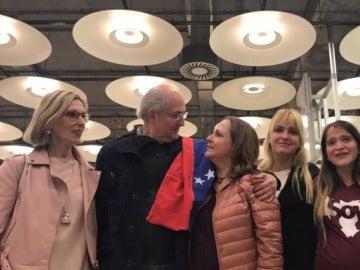 Antonio Ledezma junto a su familia en Madrid