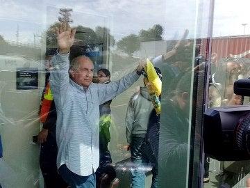 Antonio Ledezma a su llegada a Madrid