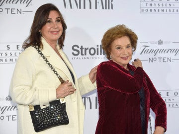 Carmen Martínez-Bordiú y su madre Carmen Franco