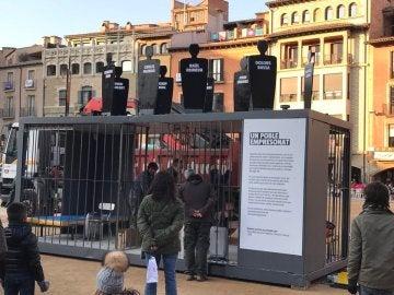Cárcel recreada por la ANC y Òmnium