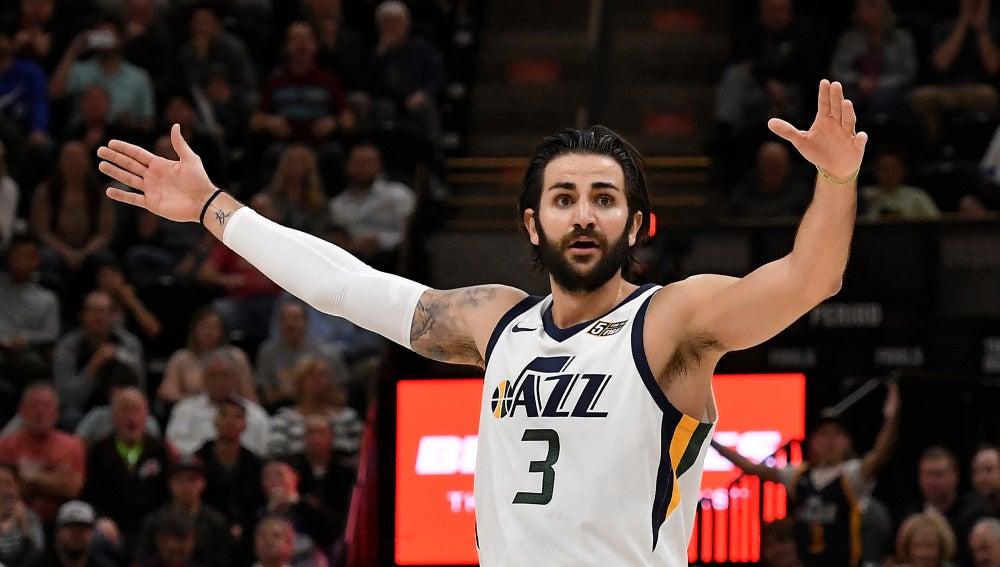 Ricky Rubio, en acción con los Utah Jazz