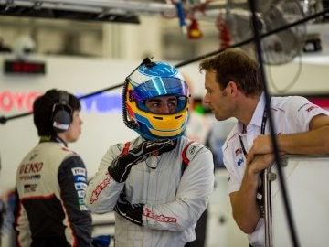 Fernando Alonso, en su prueba con Toyota