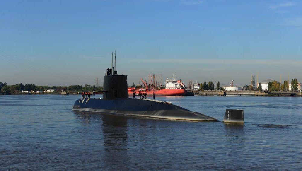 Fotografía sin fecha cedida por la Armada Argentina que muestra al submarino de la Armada desaparecido.