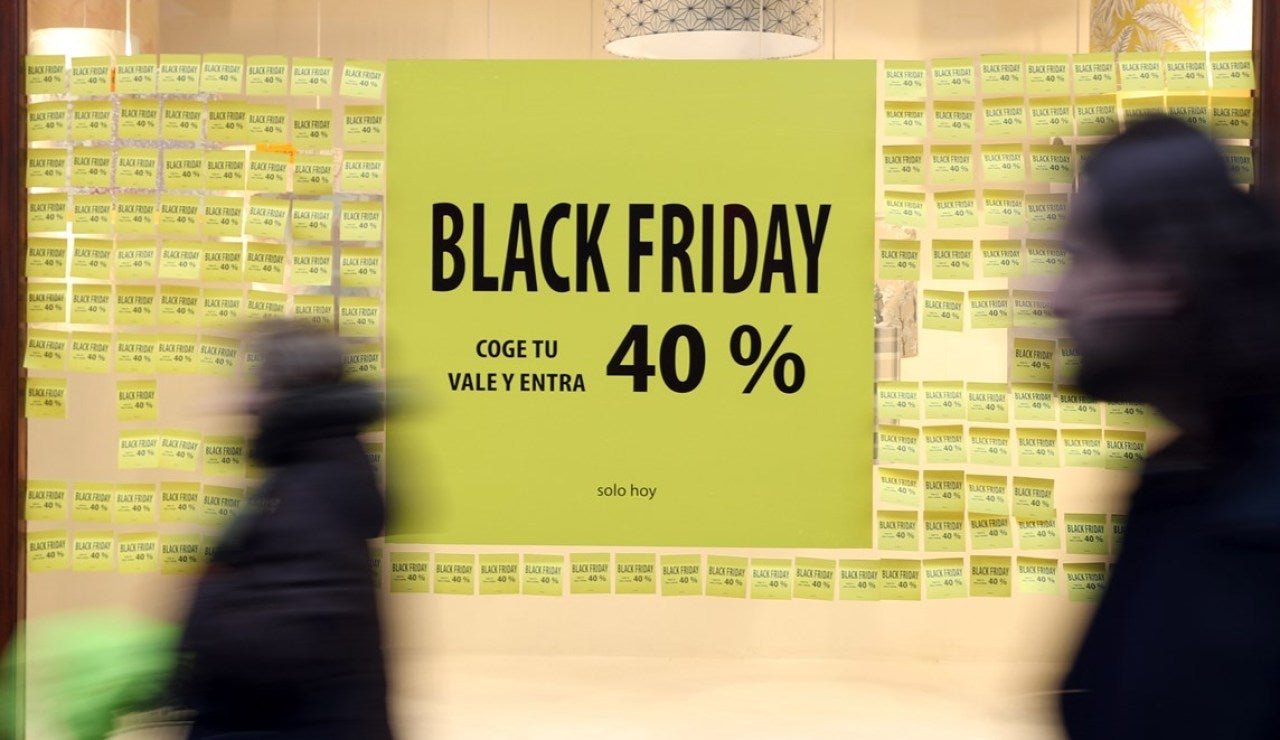 Cartel promocional con descuentos del Black Friday