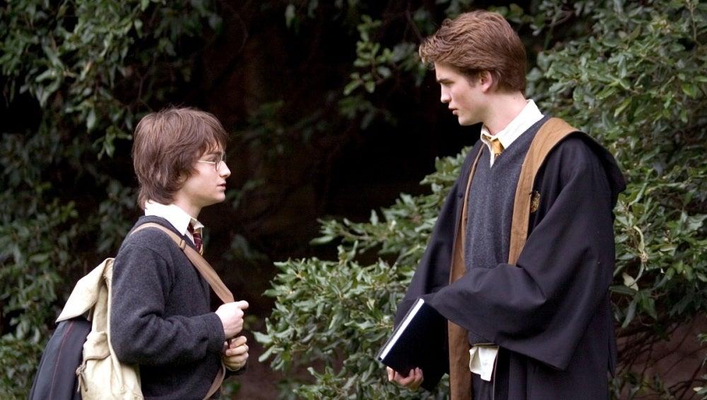 Harry y Cedric en 'El Cáliz de Fuego'