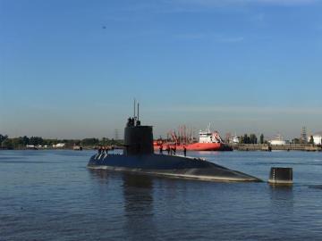 Fotografía de archivo del submarino de la Armada desaparecido