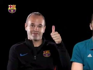 Iniesta y Buffon, durante su entrevista
