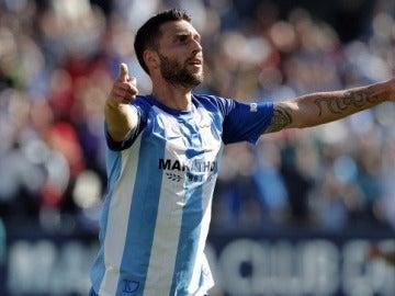 El delantero del Málaga, Borja Bastón.