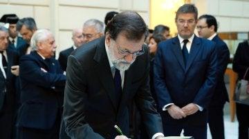 Mariano Rajoy, en la Fiscalía General del Estado