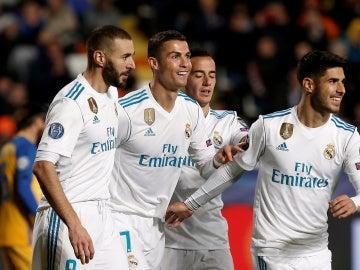 Cristiano Ronaldo celebra un gol ante el APOEL