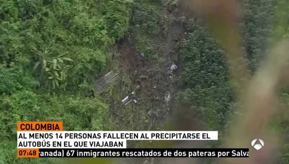 Mueren 14 personas en un accidente de autobús en el noroeste de Colombia
