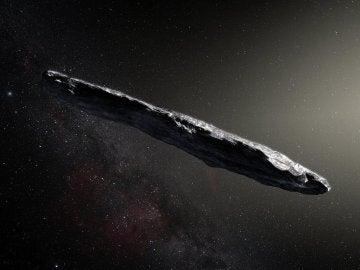El alargadisimo Oumuamua el primer asteroide interestelar