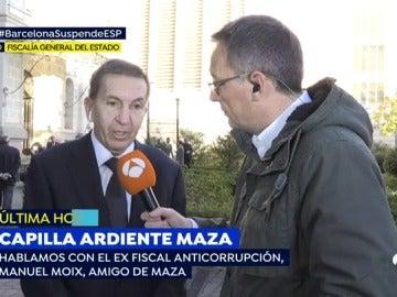 """Manuel Moix, sobre José Manuel Maza: """"Las críticas no le afectaban porque estaba convencido de que sus actuaciones eran conformes a la ley"""""""