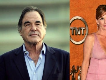 Oliver Stone y Melissa Gilbert