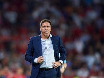 Berizzo, durante un partido con el Sevilla