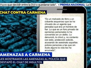 Identifican a los policías que vertieron insultos contra Carmena en un chat