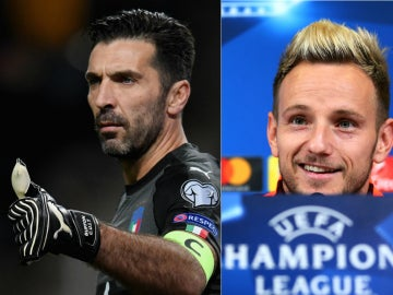 El divertido intercambio de Buffon y Rakitic