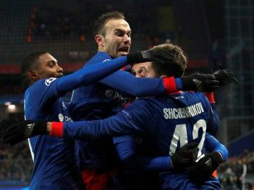 El CSKA celebra un gol