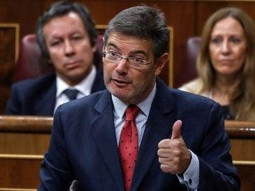 El ministro de Justicia, Rafael Catalá, durante la sesión de control al Gobierno