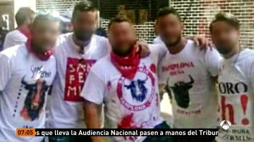 Los cinco acusados de violación múltiple en San Fermín de 'La Manada' se sientan este miércoles ante el juez