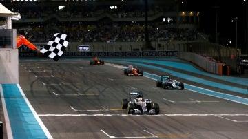 Llegada del Gran Premio de Abu Dabi en 2016