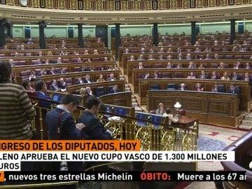 El Congreso aprobará este jueves de forma exprés el nuevo cupo vasco, de 1.300 millones de euros