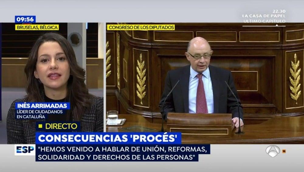 Inés Arrimadas, en una entrevista en Espejo Público