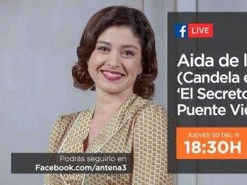 Aida de la Cruz estará mañana en directo con los seguidores de 'El secreto de Puente Viejo'