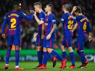 Paco Alcácer celebra el 1-0 ante el Murcia