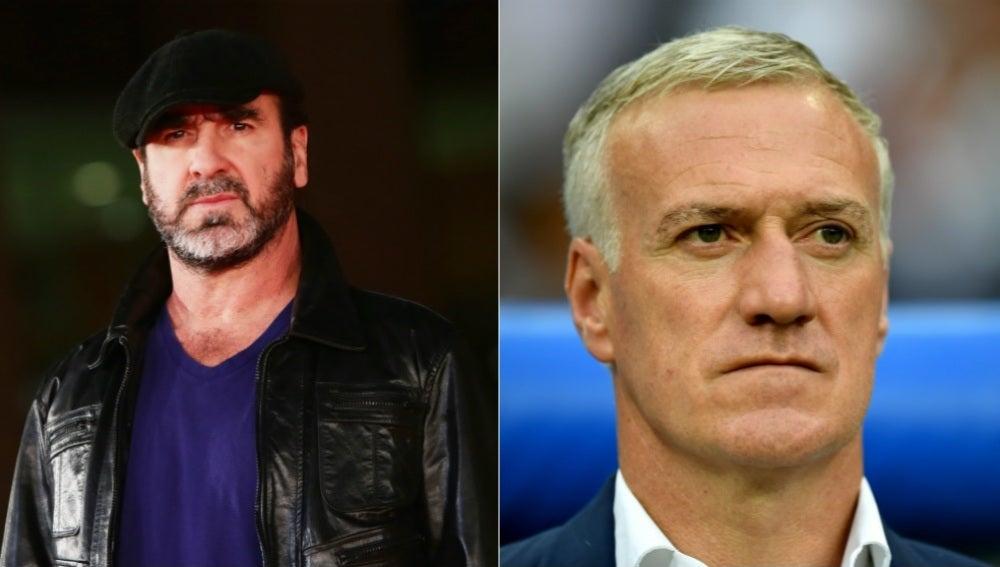 Eric Cantona y Didier Deschamps