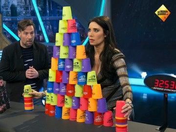 Pilar Rubio demuestra sus dotes en el mundo del 'stacking'