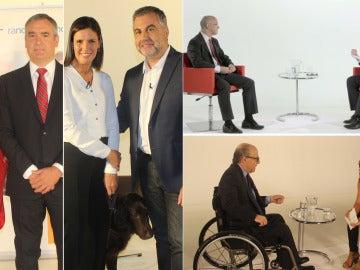 Retrato de cuatro profesionales de éxito que normalizan la discapacidad