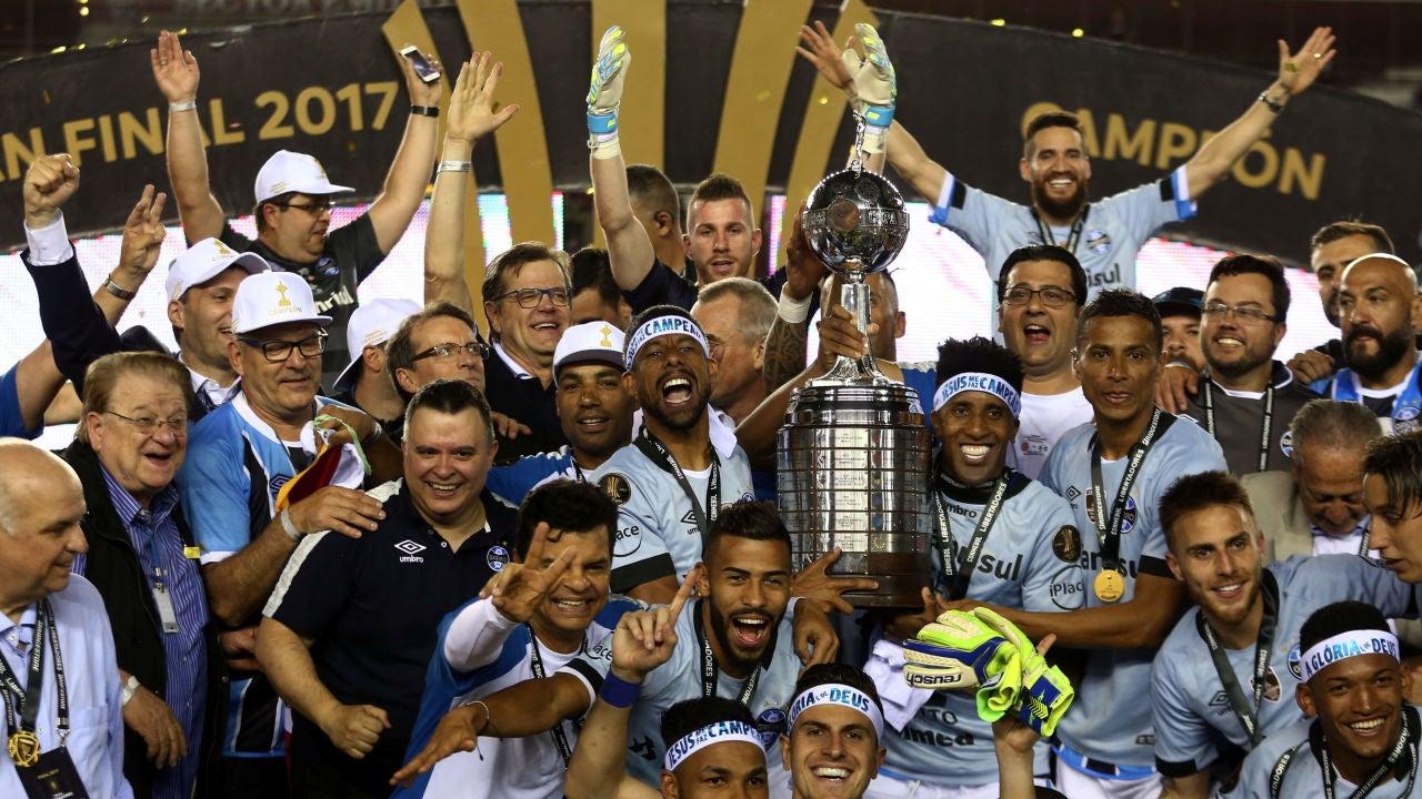 Gremio Campe U00f3n De La Copa Libertadores Tras Ganar A Lan U00fas