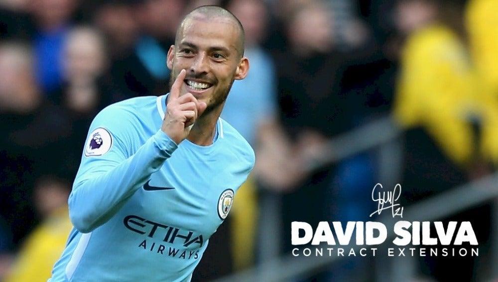 David Silva renueva su contrato con el Manchester City.