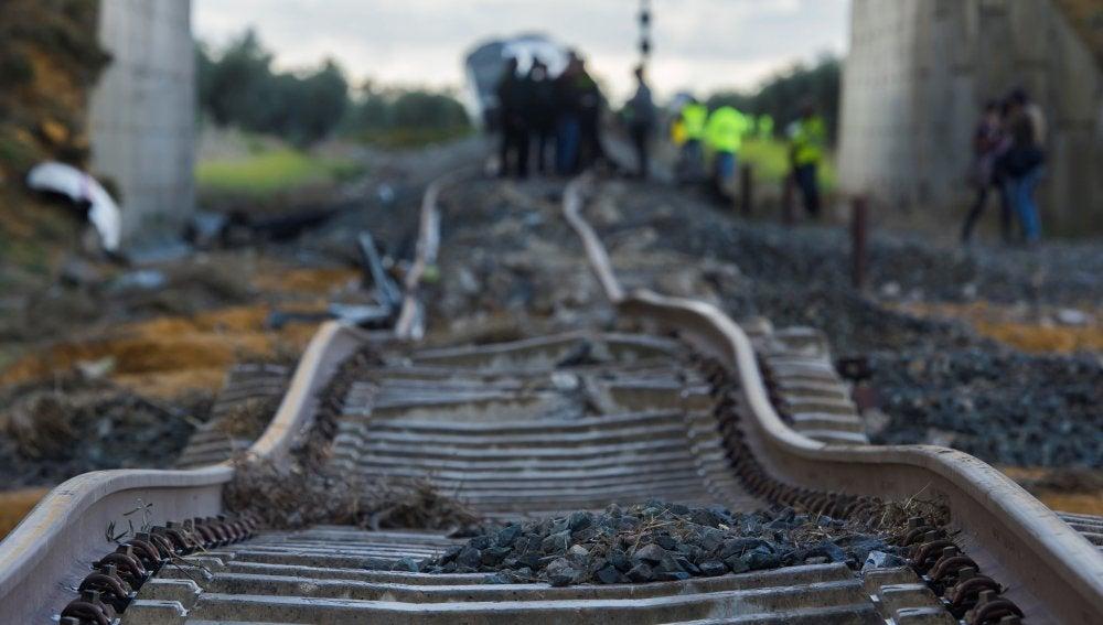 Estado en el que ha quedado la vía de ferrocarril