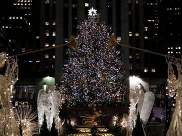 Encendido del árbol de Rockefeller (30-11-2017)