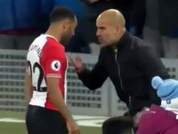 Guardiola perdió los papeles con un jugador rival al terminar el partido del Manchester City
