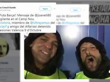 Un ultra del Valencia, trabajador del Camp Nou
