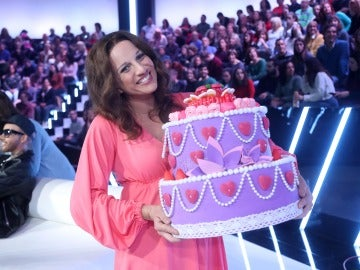 'Tu cara me suena' felicita a Lucía Jiménez por todo lo alto