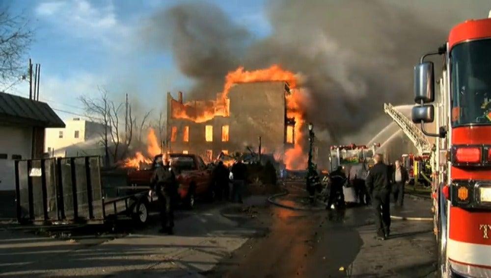 Un incendio ha quemado 20 edificios en el estado de Nueva York