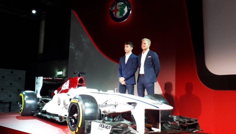 Leclerc y Ericsson, con el Sauber