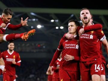 El Liverpool goleó al Brighton