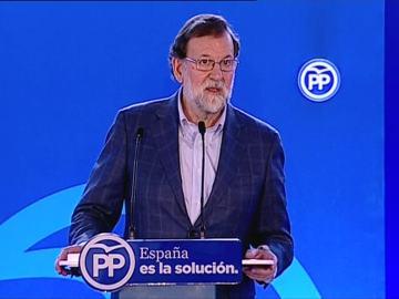 Rajoy, en un acto del PP en Mataró